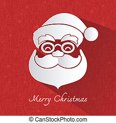 Santa claus head symbol on red background