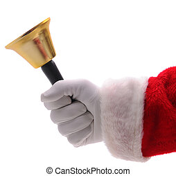 Santa Claus Holding Gold Bell