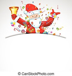 Santa Claus - illustration of santa claus with bell and ...