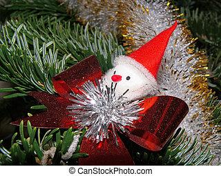 Santa Claus in a christmas tree