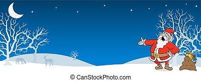 santa claus in a winter landscape