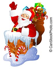 Santa Claus in chimn