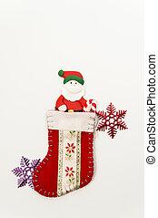 Santa Claus in Christmas sock