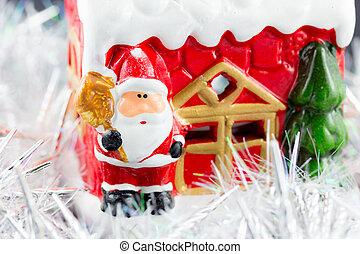 Santa Claus in the snow