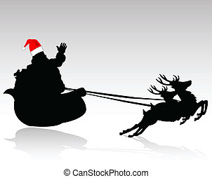 santa claus is coming vector