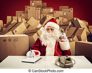Santa Claus is ready to listen all order of gifts for Christmas