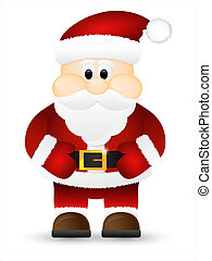 Santa Claus isolated on a white background.