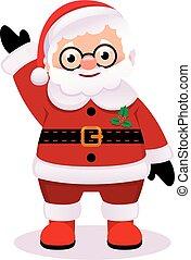 Santa Claus isolated on white background Stock vector illustration cartoon
