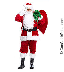 Santa Claus isolated on white. - Santa Claus isolated on ...