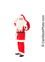 santa claus isolated on white