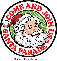 santa claus, kerstman, retro
