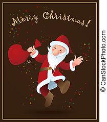 santa claus, -, kerstmis, achtergrond