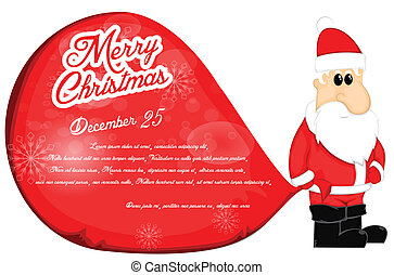 santa claus, kerstmis, achtergrond