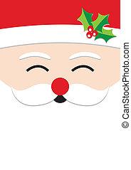 santa claus, kerstmis kaart