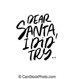 Santa Claus Lettering