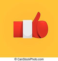 Santa Claus like icon vector illustration.