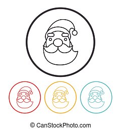 Santa Claus line icon