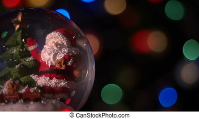 Santa Claus Magical Sphere Christmas Concept