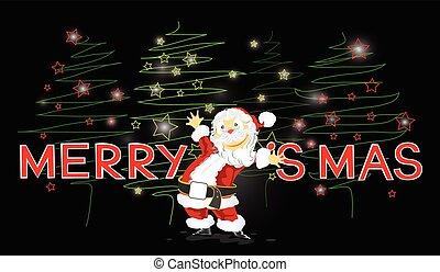 Santa Claus Merry Chrismas card - Santa Claus Merry Chrismas...