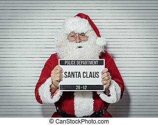 Santa Claus mug shot - Santa Claus arrested on Christmas...