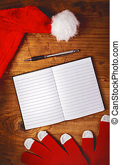 Santa Claus notebook for to do list