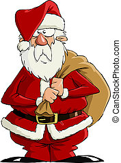 Santa Claus on a white background, vector
