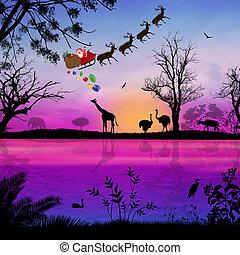 Santa Claus on Africa