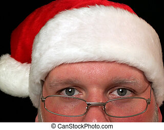 Santa Claus on black background