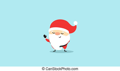 Santa claus on blue background