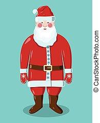 Santa Claus on green