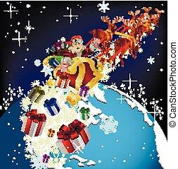 Santa Claus on planet earth