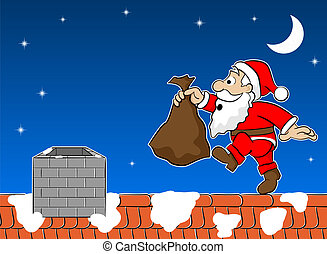 santa claus on the rooftop