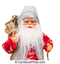 Santa Claus on white background isolated toy
