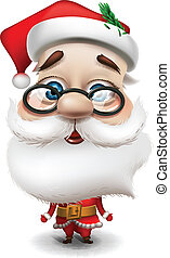 Santa Claus on white background, vector Eps10 illustration
