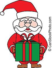 Santa claus on white background Vector illustration.