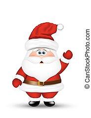 Santa claus on white background.