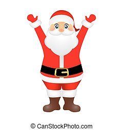 Santa Claus on white background