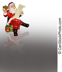 Santa Claus Ornament - Santa ornament for card or background