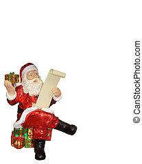 Santa Claus Ornament sitting