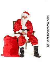Santa Claus, photo on the white background