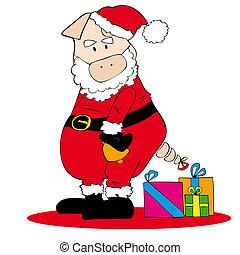 Santa Claus Pig.
