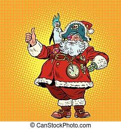 Santa Claus pirate thumb up