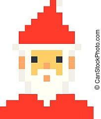 Santa Christmas Pixel Art Santa Claus Christmas Pixel Art