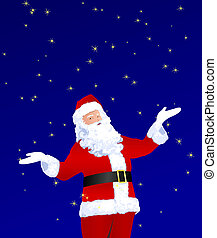Santa Claus Playing With Stars