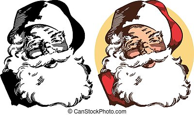 Santa Claus Portrait - A portrait of Santa Claus