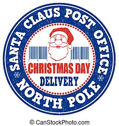 Santa Claus post office stamp