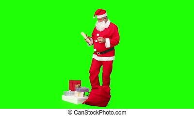 Santa Claus preparing himself