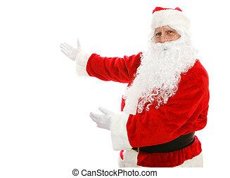 Santa Claus Presenting