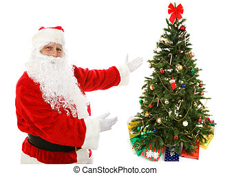 Santa Claus Presents Christmas Tree