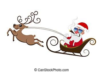 83c67b38e06f6 bear heavy burden Clip Art Vectorby scusi1 250 Santa Claus pulls a heavy bag  full of gifts on winter.